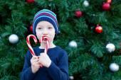 Boy at christmas — Stock Photo
