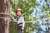 Boy at adventure park — Stock Photo