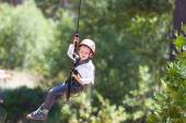 Boy at adventure park — Foto Stock