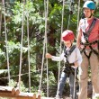 Kid in adventure park — Stock Photo #53338399