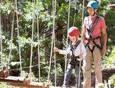 Kid in adventure park — Stock Photo