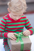 Kid at christmas — Stock Photo