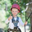 Kid at adventure park — Stock Photo #54390763
