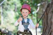 Kid at adventure park — Stock Photo