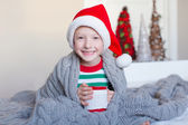 Kid at christmas — Stock Photo
