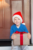 Kid at christmas time — Stock fotografie