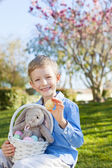 kid at easter time — Stock Photo
