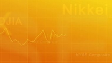 Market indexes - yellow — Stock Video