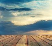 Ciel coucher de soleil — Photo
