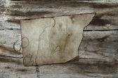 Vintage paper on wood texture — Stock Photo