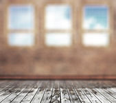 Old room with windows blurred background. — Stock Photo