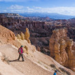 Family in National Park Bryce Canyon — Stock Photo #58576113