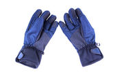 Pair of blue warm waterproof gloves. — Stock Photo