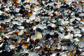 Ocean polished glass shards and stones — Stock Photo