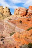 Multicolored cliffs bizarre — Foto Stock