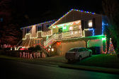 American home decorated for Christmas — 图库照片