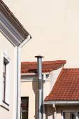 Gutters and ventilation pipe — Stock Photo