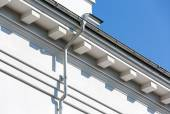 House roof with gutter — Stock Photo