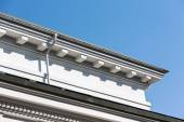 Roof top gutter — Stock Photo