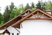 New home trusses — Stock Photo