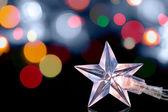 Closeup of Christmas star lights — Photo