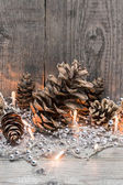 Christmas rustic background — Stock Photo
