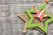 与明星圣诞节背景 — 图库照片