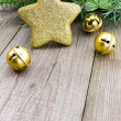 Christmas jingle bells with golden star — Stock Photo #58213807