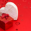 Red gift box with heart — Stock Photo #62539103