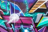 Multi colored graffiti wall — Stock Photo