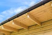 House roof rafters — Stock Photo