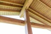 Wooden roof structure — Stock Photo