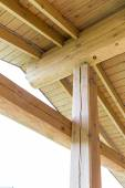 Roof truss system from below — Stock Photo