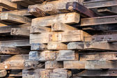 Old wooden sleepers — Stock Photo