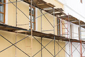 Old building with scaffolding — Stock Photo
