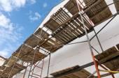 Scaffolding on a building renovation — Stock Photo