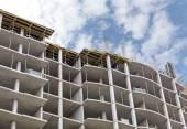 Apartments building under construction — Stock Photo