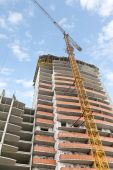 High-rise building construction — Stock Photo