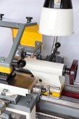 Closeup of a lathe machine — Stock Photo