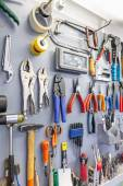 Tools on garage wall — Foto de Stock