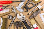 Set of old hand tools — Stock Photo