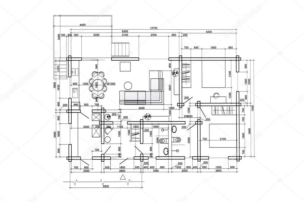 Dibujo Arquitect Nico De Interior Casa Fotos De Stock