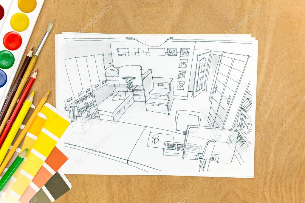 혁신 디자인 컨셉 디자이너 책상에 — 스톡 사진 © MrTwister #80750108