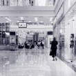 Shoppers at shopping center, motion blur. — Stock Photo #65424837