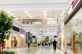 Shopping hall with people — Stock Photo