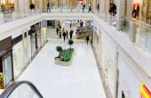Shopping hall Panorama — Stock Photo