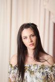 Portrait of attractive brunette woman — Stock Photo