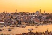 Istanbul, Blick auf Bucht Goldenes Horn — Stockfoto