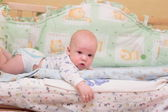 Baby rest on bed — Stock Photo
