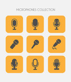 Microphone icons flat style — Stock Vector
